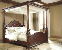 King Canopy Bed With Curtains Curtains For Canopy Beds King Canopy ...