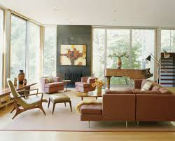 mesmerizing modern retro living room. Mesmerizing Mid Century Modern Decoration For Home Inspiration White Wall And Baseboard Plus Leather Sectional Retro Living Room O