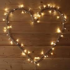 fairy lighting. Warm White Micro LED Fairy Lights In A Heart Shape Lighting E