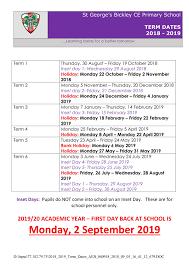 Term Dates | St George's CE Primary