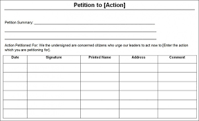 Template For Petition Get Petition Templates Find Word Templates Top Template Collection
