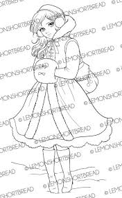 Anime Winter Girl Coloring Pages