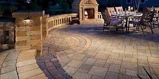 paver patio fire place
