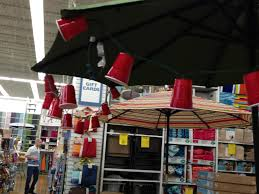 white lights in red solo cups what a cute idea for outdoor party i saw this at one of my fav s bed bath beyond