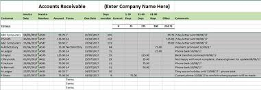 Accounts Receivable Templates Excel Accounts Receivable Ledger Template Business Accounting Basics