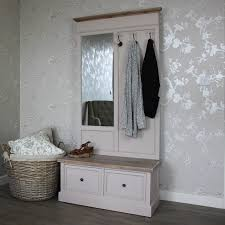 Coat Rack Bench With Mirror New Settle Cotswold Range Melody Maison