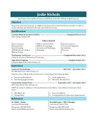 Medical Resume Template Student Medical Assistant Resume Template ...