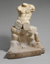 Rock Sculpture marble statue of herakles seated on a rock work of art 6562 by xevi.us