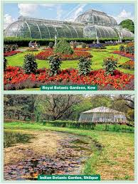 a sprinkling of students and only a few tourists can be spotted at the garden that has little new to offer unlike the kew gardens with its regular