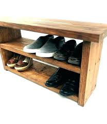 Entry benches shoe storage Rustic Entry Bench With Shoe Rack Bench With Shoe Rack Entry Benches Shoe Storage Entry Bench With Psychicmapsinfo Entry Bench With Shoe Rack Image Of Entryway Shoe Storage Bench And