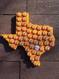 shiner bock beer cap texas wall hanging by rattlesen on etsy