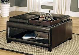 cushioned coffee table. Cushion Ottoman Coffee Table Top Brown Leather Tables With Storage Home . Cushioned O