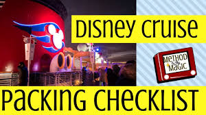 Disney Cruise Packing Checklist Things You Should Bring
