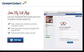 email list signup form add the join my mailing list facebook app to your facebook business page