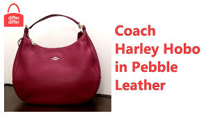 Coach Harley Hobo in Pebble Leather 38259