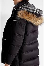 burberry cashmere down coat with rac fur black men burberry shirt burberry cologne