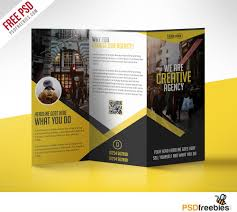 tri fold brochures multipurpose trifold business brochure free psd template