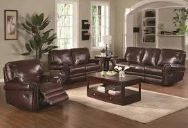 image of colour scheme for living room with dark brown sofa