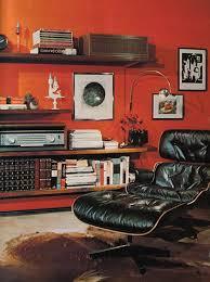 vintage mid century man room eames chair ilration