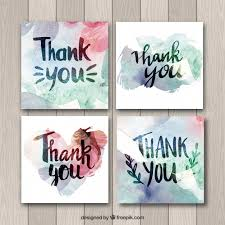 Watercolor thank you cards Handmade Remember You Have To Attribute Freepik Freepik Watercolor Thank You Cards Collection Vector Free Download