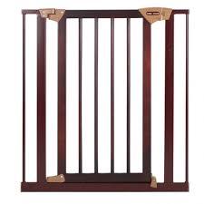pressure fit wood metal safety gate dark hardwood