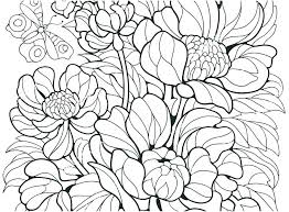 Coloring Pages Flowers And Butterflies Coloring Book Pages Of