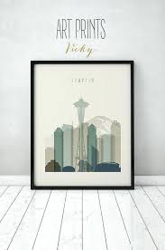 wall art seattle print poster wall art skyline city poster typography art home decor digital print on best wall art in seattle with wall art seattle chastaintavern