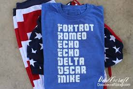 It is used to spell out words when speaking to someone not able to see the speaker, or when the audio channel is not clear. Freedom Phonetic Alphabet Patriotic Shirt Made With Cricut Maker