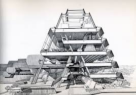 modern architectural sketches. Paul Rudolph Drawing Modern Architectural Sketches A
