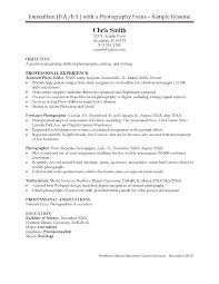 Photographer Resume Example Photographer Resume Examples ...