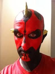 darth maul makeup se 5 start sticking horns on