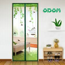 magnetic door curtain super printing screen top quality mesh sheer anti mosquito insect magic 640 640