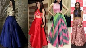 Skirt N Top Designs Latest Long Skirt With Crop Top Designs Sangeet Mehendi