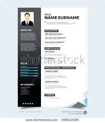 Resume Modern Template Free Download Download New Modern Resume Template With Photo Stock Vector