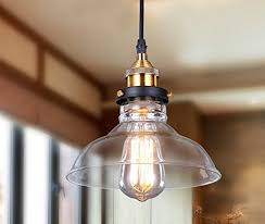 industrial kitchen lighting. Lightess Glass Pendant Light Industrial Hanging Ceiling Lamp With Edison Bulb Fixtures And Shade 1 Kitchen Lighting R