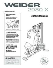 Weider 2980x Exercise Chart Pdf Weider 2980 X Manuals