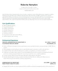 Examples Of Administrative Resumes Cool Admin Resume Example Administration Office Medical Executive