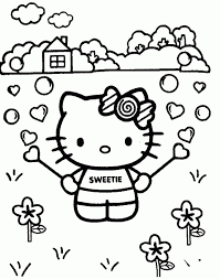 Hello Kitty Kleurplaat Printen