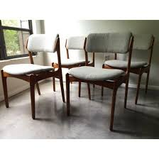 vine erik buck o d mobler danish dining chairs set 4 to her with black and white