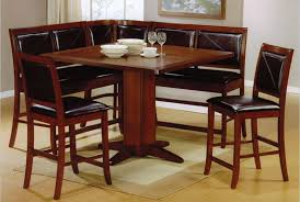 kitchen booth furniture. 17. Cushioned Counter Height Breakfast Nook Kitchen Booth Furniture T