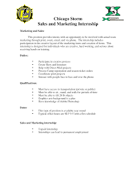 Cover Letter Marketing Internship Cover Letter Examples Marketing