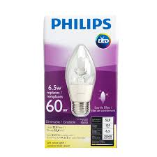 philips chandelier led flame dimmable bulb medium base soft white 6 5w