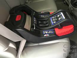 b safe 35 base seat belt installed