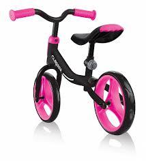 <b>Беговел Globber Go</b> Bike черный - розовый (Глоббер Гоу Байк ...