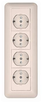 <b>Розетка Schneider Electric</b> ПРИМА <b>RA16</b>-411M-BI,<b>16А</b>, с ...