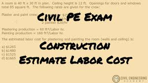 construction estimating labor costs for work