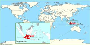 java on the world map