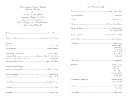 Wedding Schedule Template Extraordinary Free Wedding Templates Programs Response Cards And More