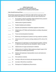 Nurse Anesthetist Resume Sample Resume For Registered Nurse Rn Anesthetist Cv Template 98