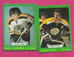 1973-74 OPC BRUINS JOHNNY BUCYK + FRED ODONNELL RC CARD (INV# C1378) | eBay